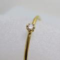 14kgfリング(指輪)天然石ホワイトダイヤモンド【I2】(アフリカ産)(無処理)2mm(ラウンド)(サイズ目安:10号〜11号)「ゴールドフィルド」(1個)
