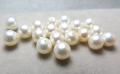淡水パール真珠(ホワイト系)/片穴パール(ラウンド~セミラウンド5.5~6mm)(4個)