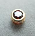 ゴールドフィルド・チャーム/天然石ガーネット(ラウンド4mm)ベゼル「14kgf」(1個)