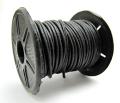 本革レザーコード・丸革紐/ブラック/1mm×10メートル×1本
