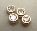 ゴールドフィルド・チャーム/天然石ホワイトトパーズ(ラウンド4mm)ベゼル「14kgf」(1個)