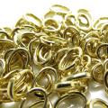 丸カン(ロックタイプ)(オーバル・8mm×6mm)(真鍮ブラス・ゴールドカラー)(15個)