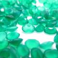 天然石ルース(裸石)・グリーンオニキス/オーバル【6×4mm】ファセットカット(10個)