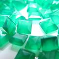 天然石ルース(裸石)・グリーンオニキス/スクエア【4×4mm】ファセットカット(20個)