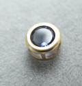 ゴールドフィルド・チャーム/天然石アイオライト(ラウンド4mm)ベゼル「14kgf」(1個)