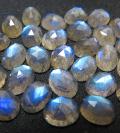 天然石ルース(裸石)ラブラドライト/オーバル(8×6mm)カボション ローズカット(5個)