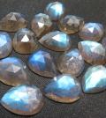 天然石ルース(裸石)ラブラドライト/ペアシェイプ(14×10mm)カボション ローズカット(1個)