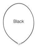 レザーネックレス40cm【ブラック・1.5mm】(1本)