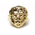モチーフリング(14kgf指輪)(ライオン)(サイズ目安:7号)「ゴールドフィルド」(1個)