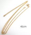 14kgfネックレス「ゴールドフィルド」45cm【丸アズキ・幅1.0mm】 4本
