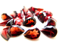 天然石ルース(裸石)・ガーネット(インド/アフリカ)/ペアシェイプ【6×4mm】ファセットカット(10個)