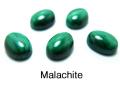 天然石ルース(裸石)・マラカイト/カボション(オーバル)【8×6mm】(10個)