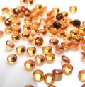天然石ルース(裸石)・オレンジサファイア(加熱処理)(アフリカ産)/ラウンド【2mm】ダイヤモンドカット(6個)