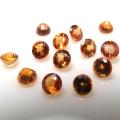 天然石ルース(裸石)・オレンジサファイア(セイロン・スリランカ/加熱処理)/ラウンド【3.5mm】ファセットカット(1個)