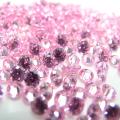 キュービックジルコニアcz(ピンク)【AAA】・ルース(裸石)・/ラウンド【9mm】ファセットカット(3個)