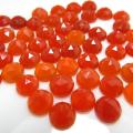 天然石ルース(裸石)・レッドオニキス/ローズカット カボション(ラウンド)【5mm】(10個)
