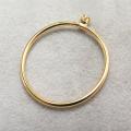 リングパーツ(指輪)空枠2mm(ラウンド)(サイズ目安:13号)「14kgf(ゴールドフィルド)」(1個)
