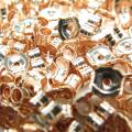 ローズゴールドフィルド・ピアスキャッチ(4.6mm×3.8mm)「14krgf」(40個)