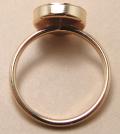 14kgfリング・指輪パーツ(カボション・ラウンド10mm)「ゴールドフィルド」(サイズ目安10〜11号)(1個)