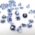 天然石ルース(裸石)・タンザナイト(加熱処理)(タンザニア産)ライトパープルブルー/ラウンド【3mm】ファセットカット(4個)