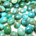 天然石ルース(裸石)・ターコイズ(アリゾナ産)/カボション(オーバル)【10×8mm】(3個)