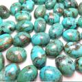 天然石ルース(裸石)・ターコイズ(アリゾナ産)/カボション(オーバル)【14×10mm】(1個)
