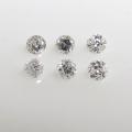 天然石ルース(裸石)・ホワイトダイヤモンド【Si】(アフリカ産・無処理)/ラウンド【2mm】ダイヤモンドカット(1個)