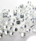 天然石ルース(裸石)・ホワイトジルコン(非加熱)(カンボジア産)/ラウンド【3mm】ダイヤモンドカット(4個)