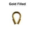 ワイヤープロテクター(穴のサイズ0.53mm)「14kgf・ゴールドフィルド」(1.18g入/50個相当)