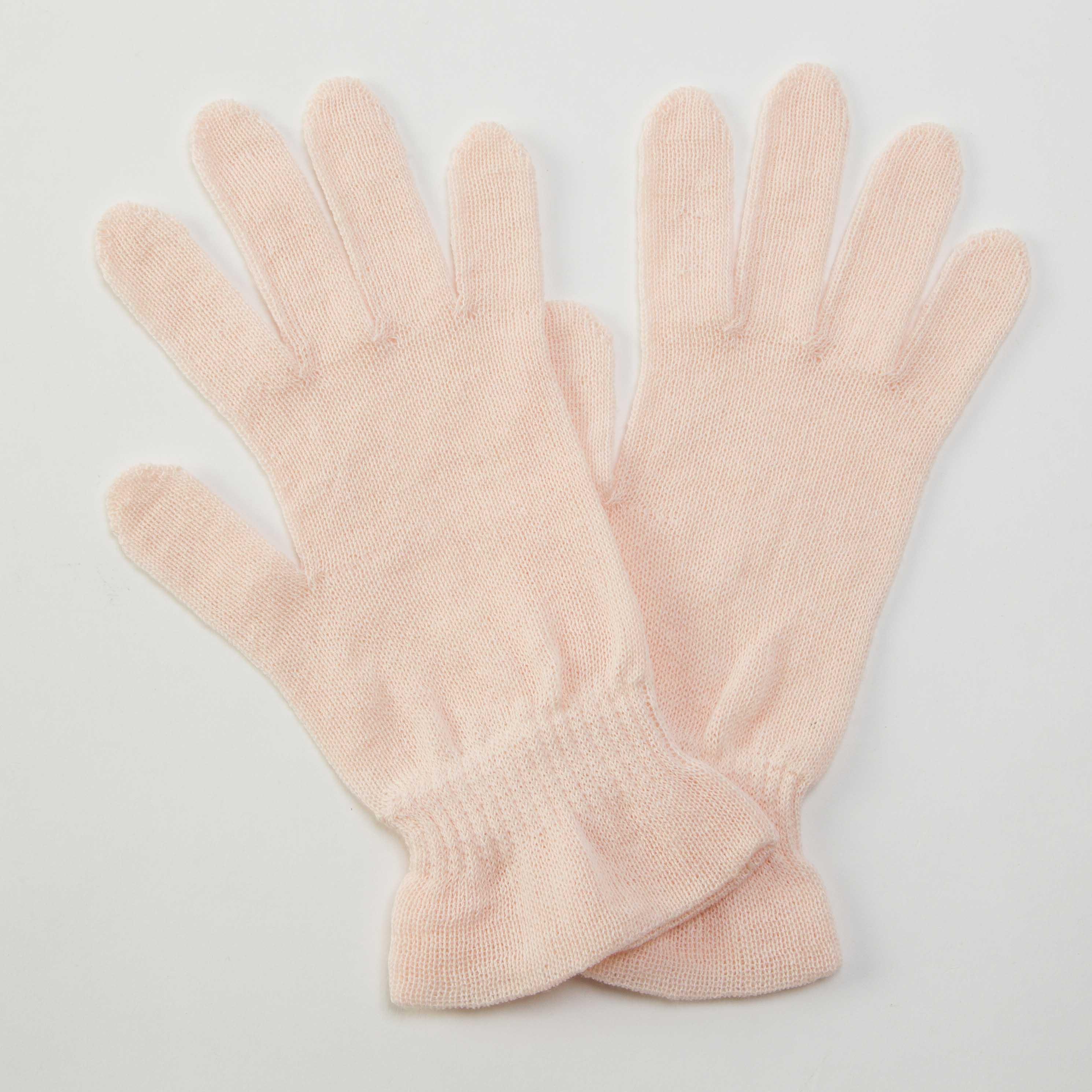 おやすみ手袋 ナチュラルダイ 茜 ピンク