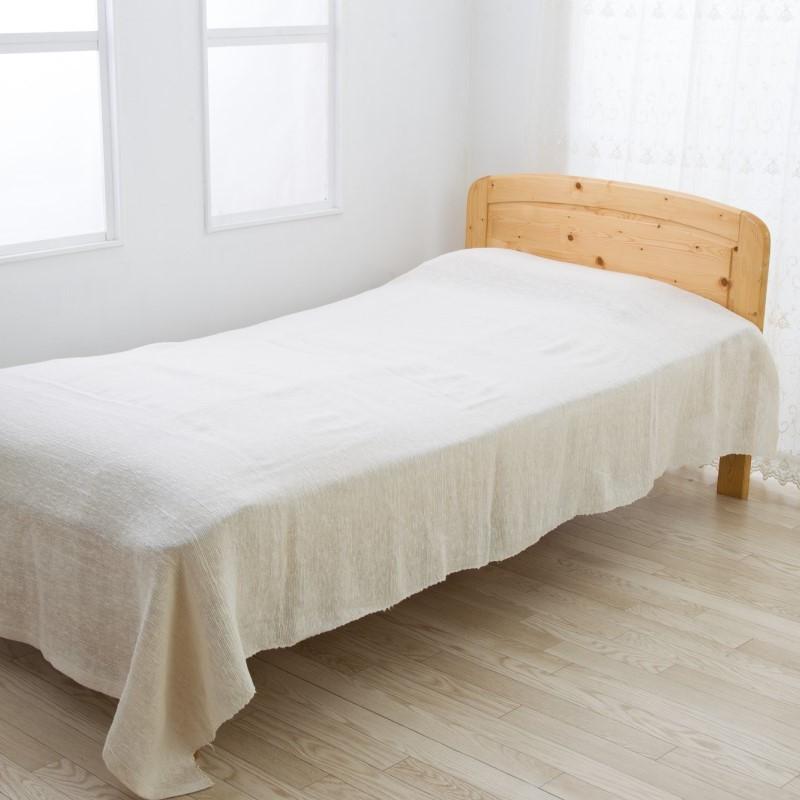 ヘンプ 麻 がら紡 ベッドカバー