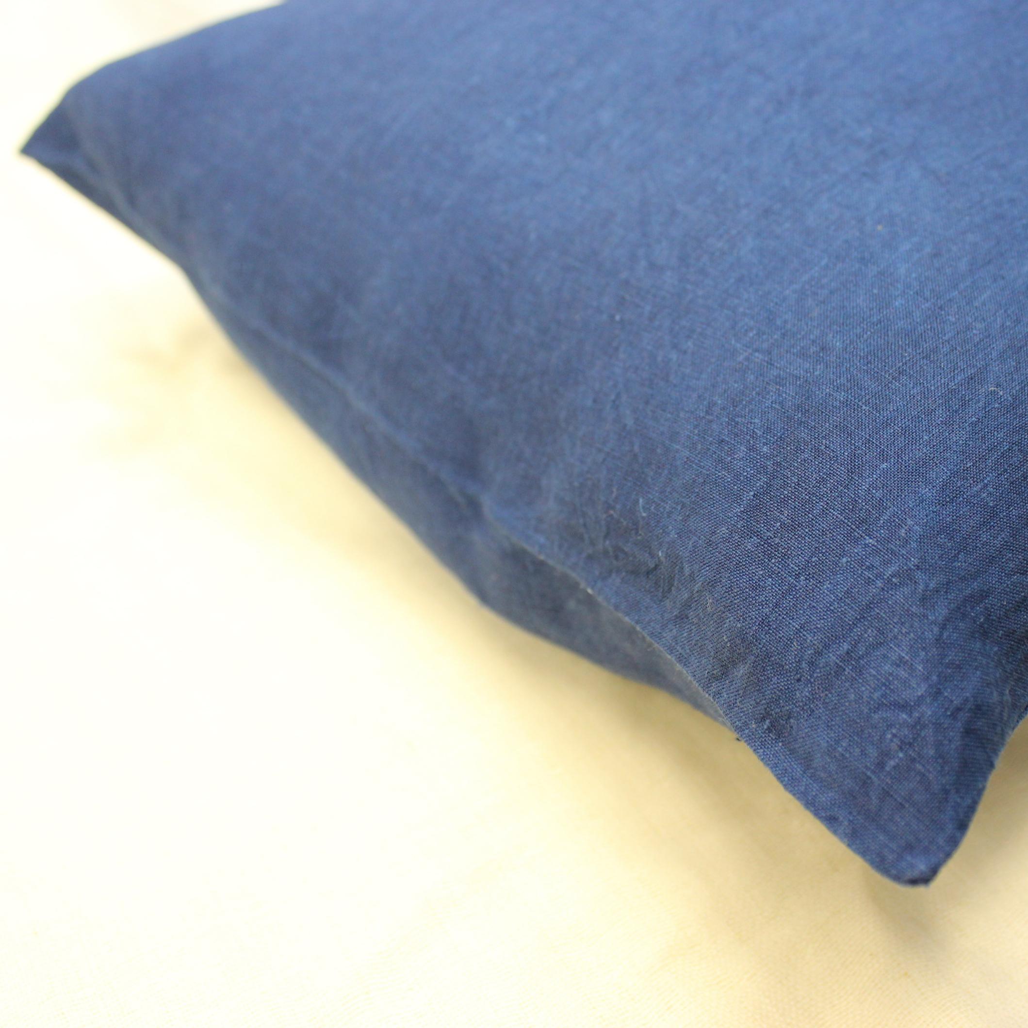 藍染め枕カバー