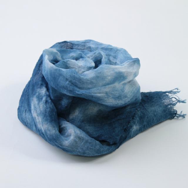 かるふわストール ヘンプ 藍染