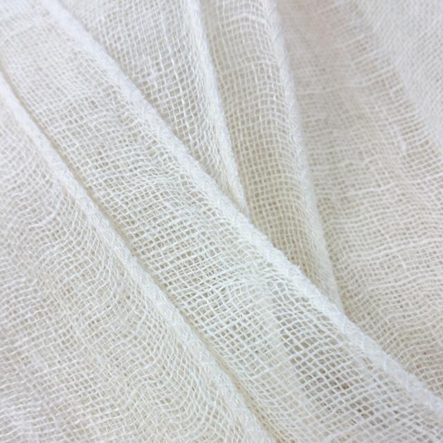 ヘンプ100% 羽衣ストール 生成り