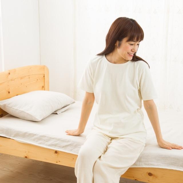 【国内織立】麻100%(ヘンプ&リネン) パッド型シーツ(シングル)&枕カバー