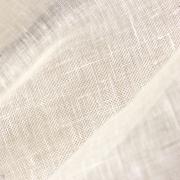 麻(リネン/ヘンプ)100% ガーゼ 平織り 蚊帳生地 オフ白 薄手 【生地洗い済み】 (36Nm:麻60番)