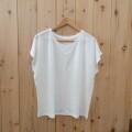 【新販売・限定数のみ】リネン100% フレンチTシャツ
