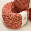 【50gモニター価格】 茜染め ヘンプ手仕事糸(約1.2mm太め ・甘撚り)