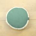 ヘンプ座布(クッション)緑色