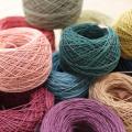 【カード巻】自然染め・ヘンプ手仕事糸(アクセサリー・手織り・手編み用)