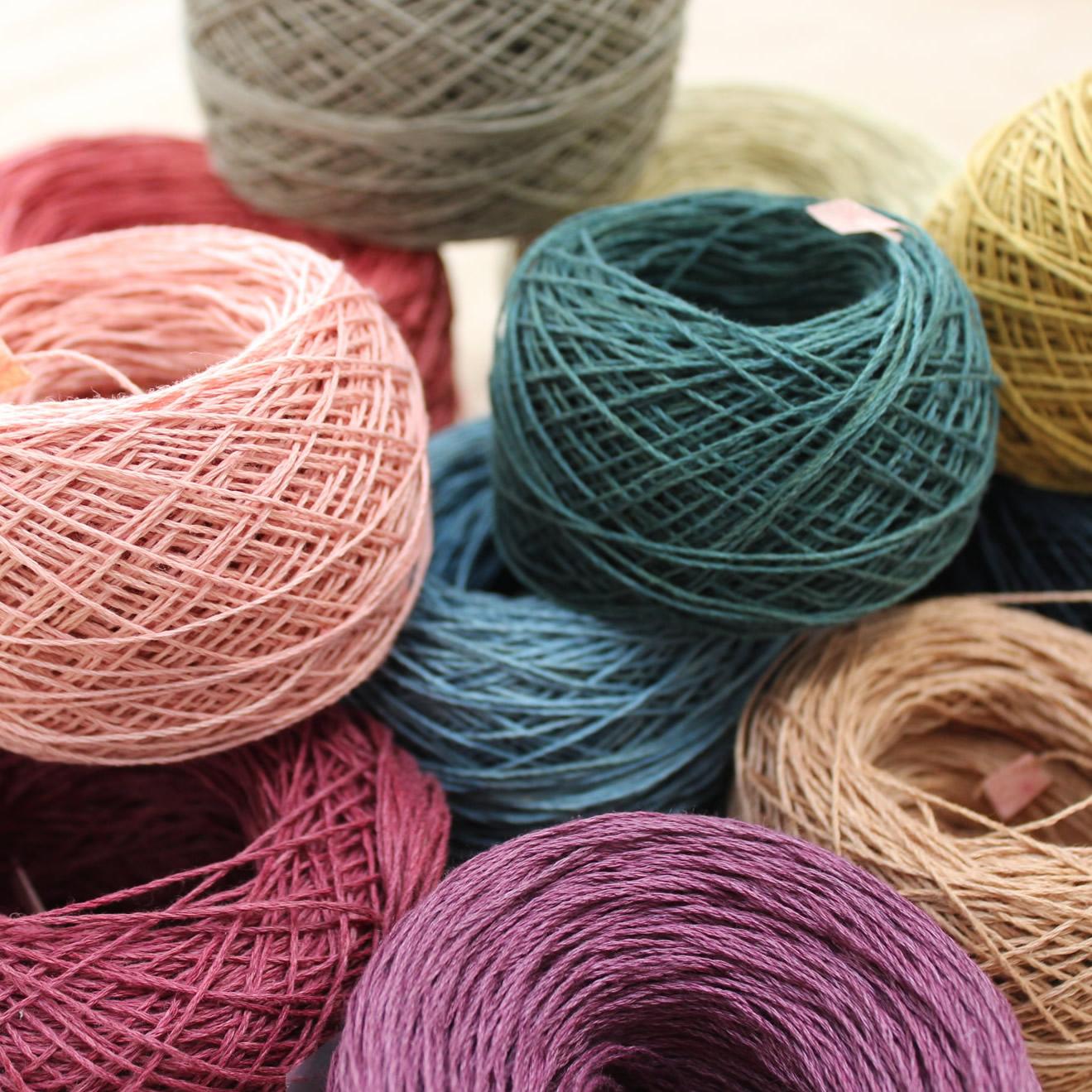 【完売御礼】自然染め・ヘンプ手仕事糸(アクセサリー・手織り・手編み用)