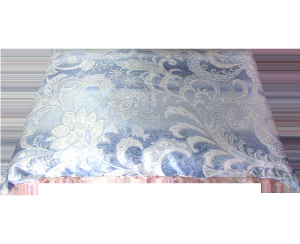 凹凸中芯手引き真綿巻枕ブルー