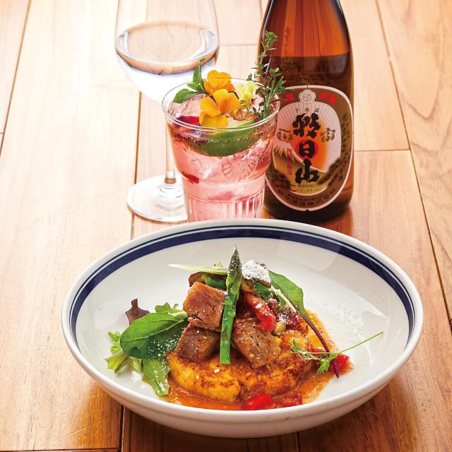 洋食とも合う日本酒「朝日山 千寿盃」