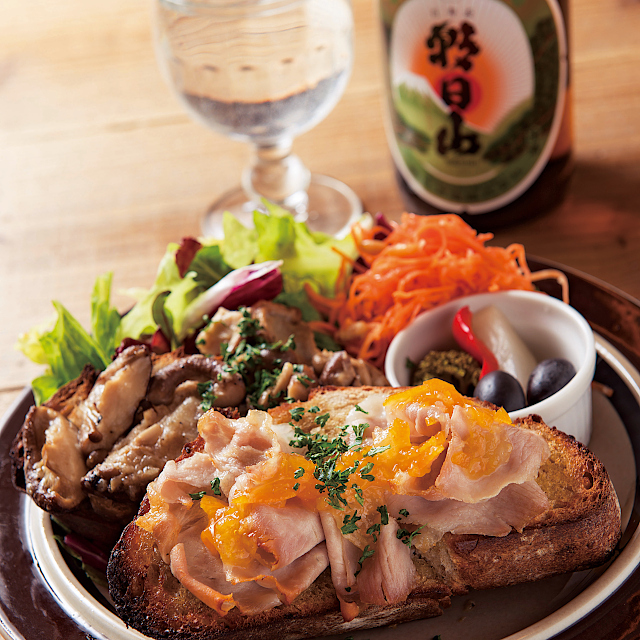 「朝日山 百寿盃」洋食にも合います