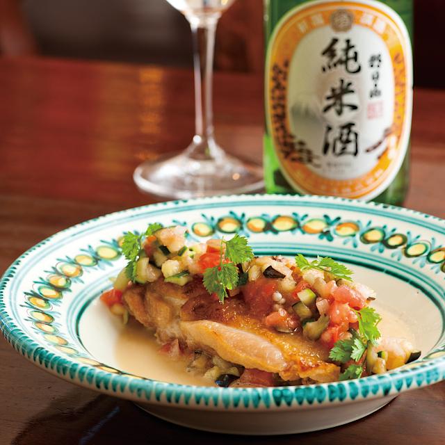 洋食にも合う純米酒「朝日山 純米酒」