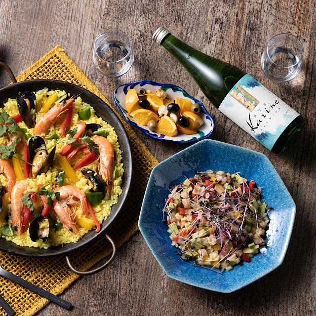 洋食とワイン感覚で楽しむ日本酒「香里音プレミアム」