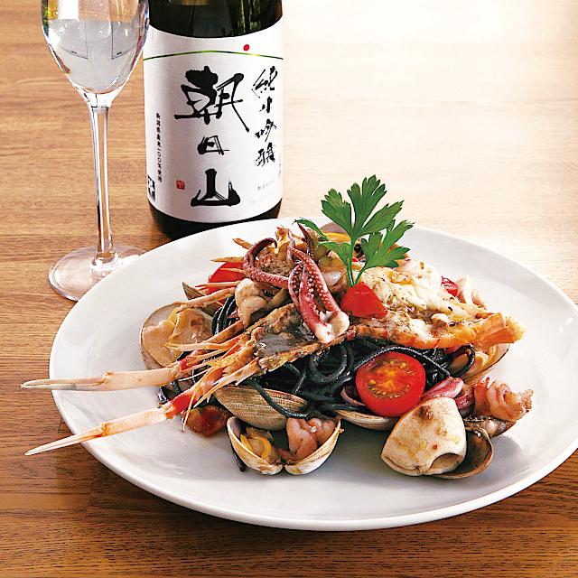 魚介系に合う日本酒「朝日山 純米吟醸」