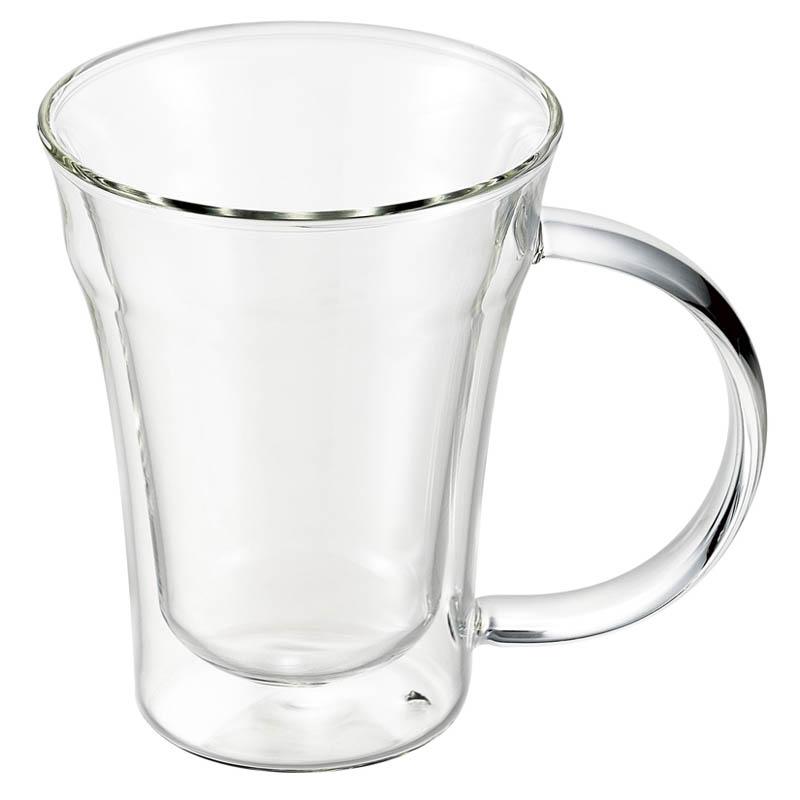 <悠遊器房>耐熱2重マグカップ 270ml【電子レンジOK 保温 保冷】【耐熱2重ガラス】【記念品】【新築祝い】【ギフト】【お祝い】