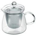 【悠遊器房】ハーブティー 700【大容量】【ティーポット】【18-8ステンレス製茶こし付】【耐熱ガラス】