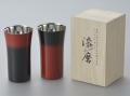 【漆磨】 荒川文彦作 シングルカップSサイズ (赤彩・黒彩)